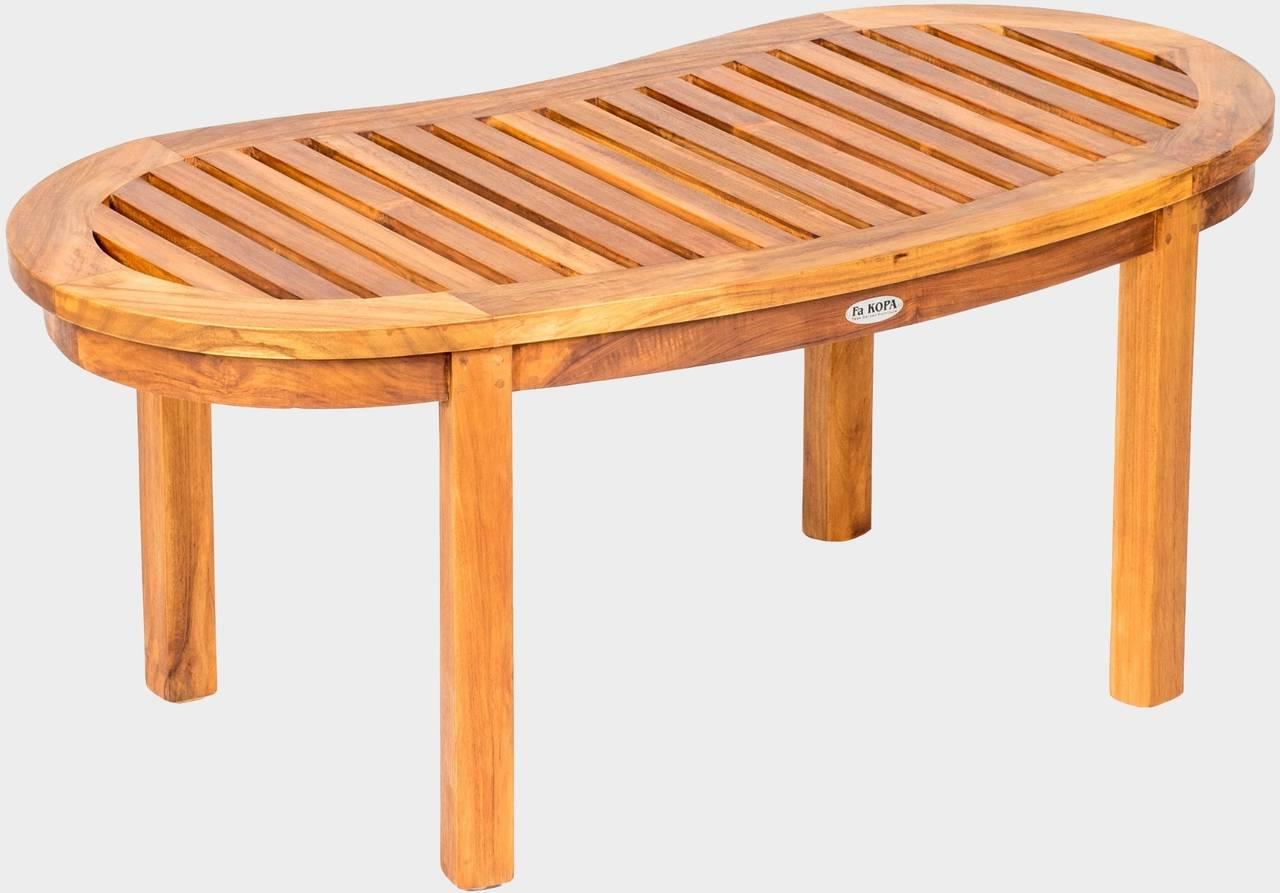 Zahradní teakový konferenční stolek FABIO