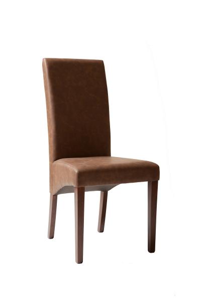 Látková židle hnedá