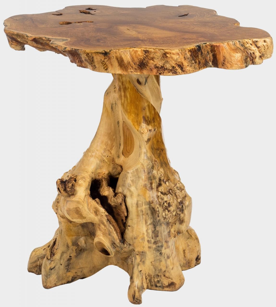 Teakový konferenční stolek z kořene HŘÍBEK