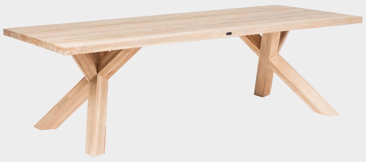 Zahradní teakový stůl FLORES SPIDER