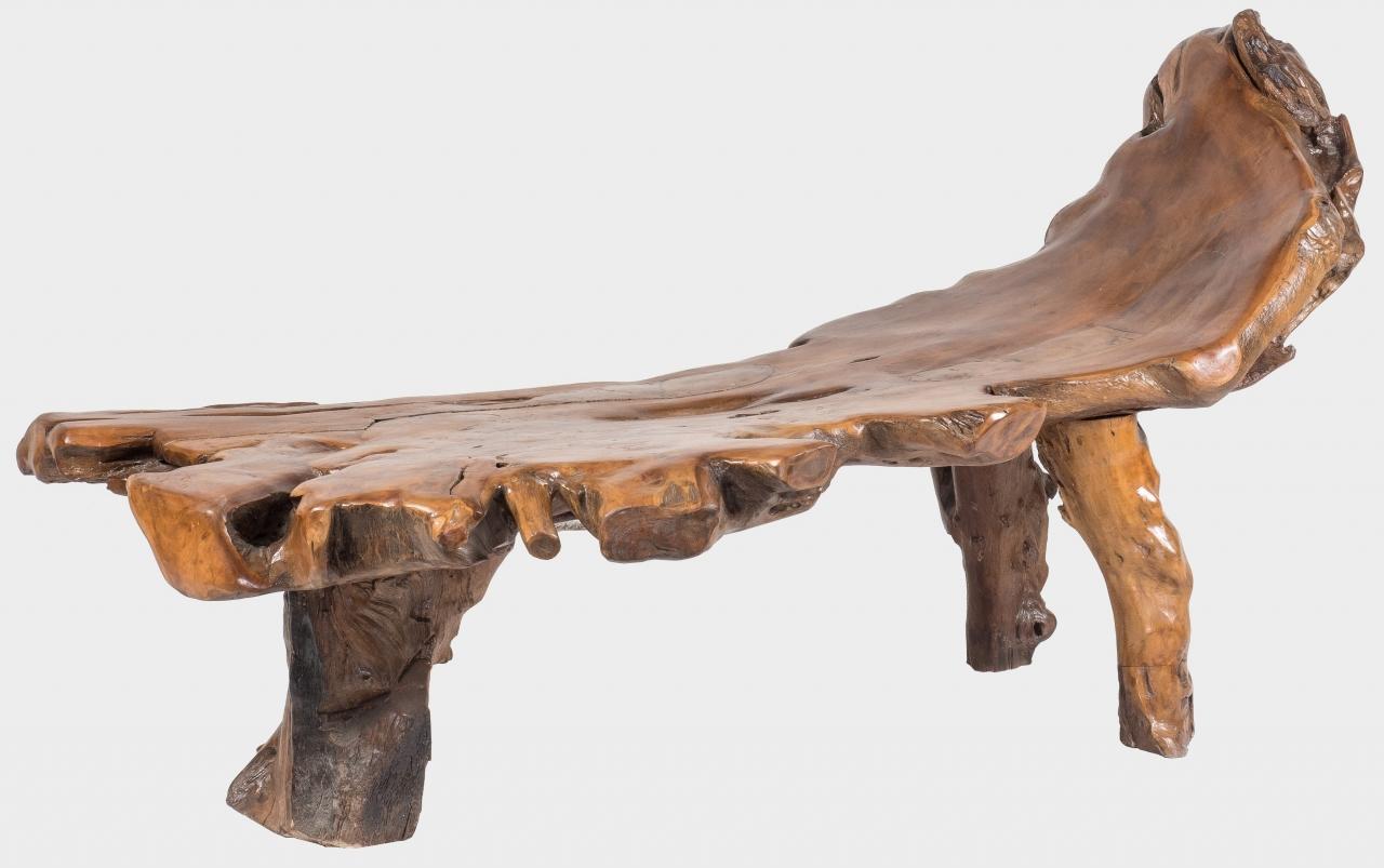 Teaková lavice z kořene MEGERA