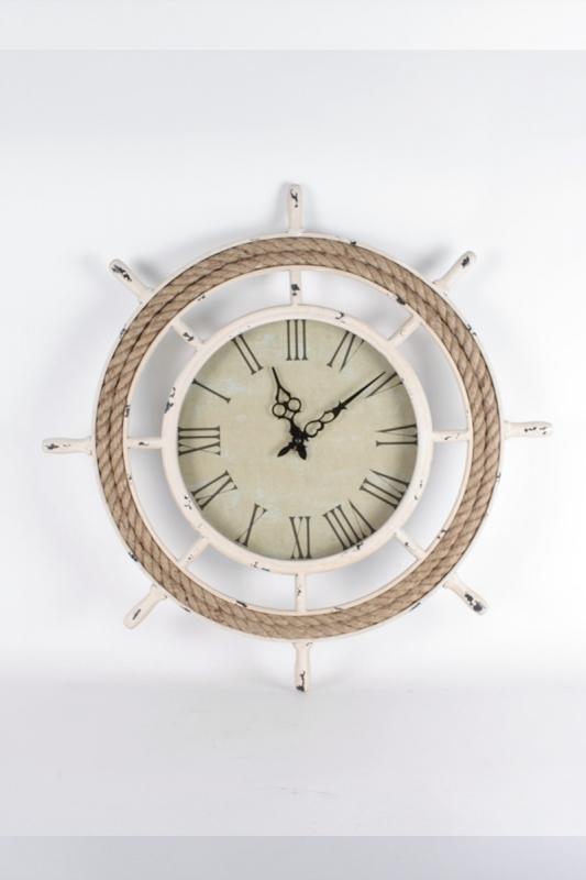 hodiny-na-zeď-s-motívom-lodného-kormidla