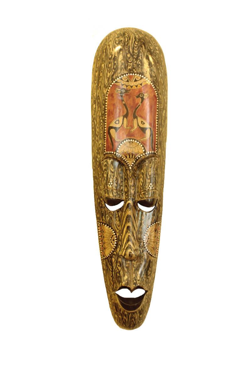 Dřevěná maska na zeď 5 001794 - Teak-art.cz 933eb72b67