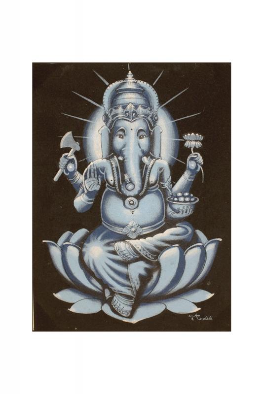 ganesha-malý-modrý 30x40