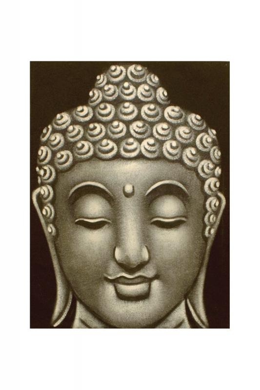 Buddha-šedý-malý