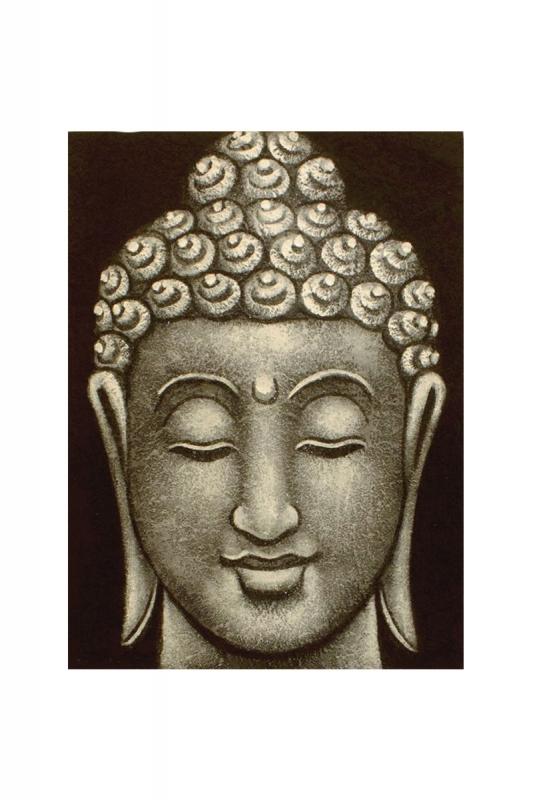 obraz-buddha-šedý