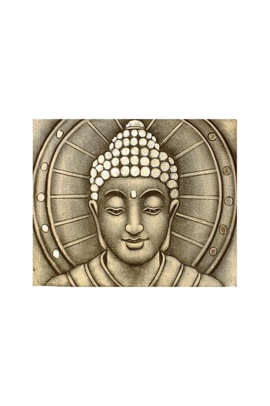 obraz-buddhy-v-záři-stříbrný