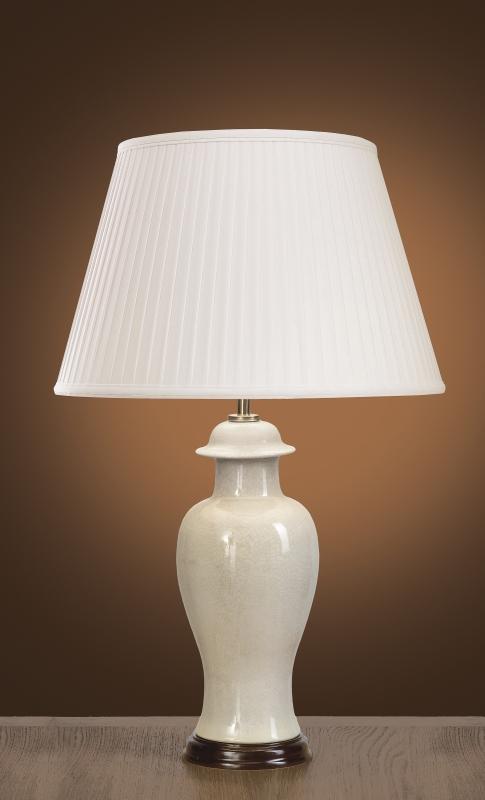Stolní lampa ivory crackle sm