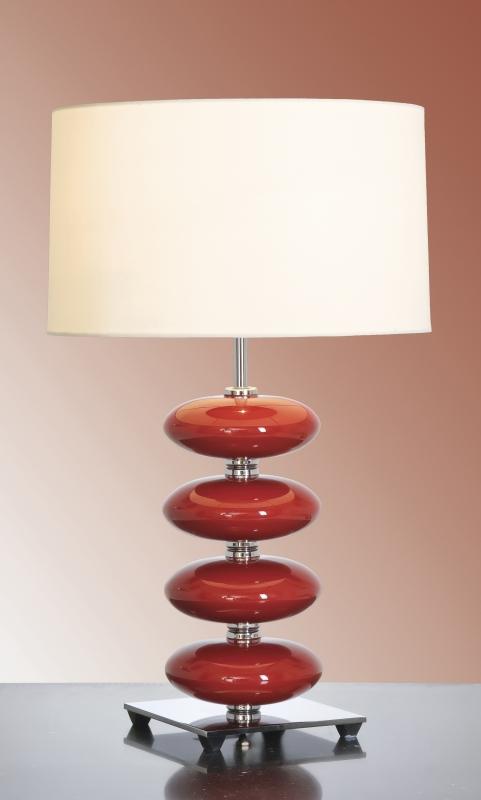 Stolní lampa onyx red