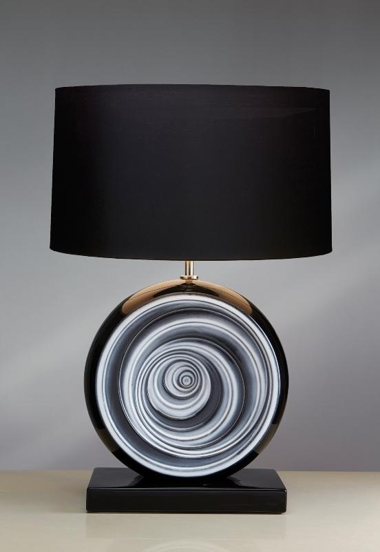 Stolní lampa black swirl