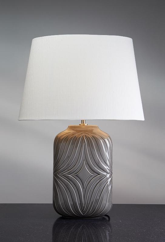 Stolní lampa muse grey